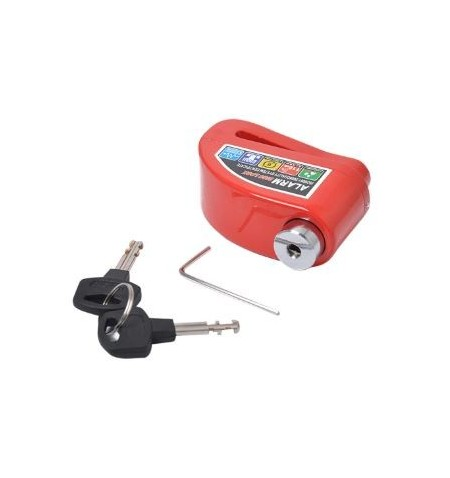 Disc lock with alarm